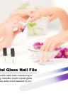 2 Pcs Nail File Glass Manicure File Nail Buffer for Natural and Acrylic Nails Nail Art Tool