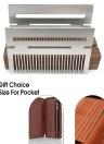 Peigne en acier inoxydable multifonctionnel Mini peigne à cheveux