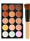Abody 15 Colors Concealer Cream Palette with Makeup Brush Contour Set