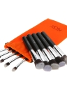 Maquiagem Abody 10pcs Professional Escova Cosmetic Set preto punho essencial com ferramentas de pincel Silica Gel Mini Lavagem pó escova da sombra