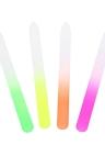 Cuidado de la herramienta del arte 4pcs del vidrio cristalino del clavo del archivo de clavo del clavo colorido de lija Herramienta para pulir uñas de manicura pulir la herramienta del arte del clavo