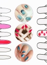 Nail Art Manucure Mat Silicone Pliable Lavable Table Soft Cover Pad Pour Stamping inverse Mat Stamp Nail Practice Workspace design Plate
