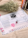 Foldable Washable Soft Table Cover Silicone Mat for Stamping Nail Art Design Practice