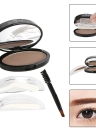 PNF Brow Stamp Powder Eye Brow Enhancer Delicate Brow naturel avec la brosse Miroir 2 Paires Timbres 1 # Lumineux Brown