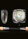 Chameleon prego Sequins # 2 Glitter Nail Art Transparente Paillette manicure Decoração Nail Art Glitter Pó Com Escova