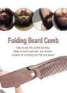 1pc Folding Beard Comb Pocket Size Moustache Comb Wood Anti-static Hair Comb for Men & Women