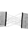 2Pcs Glass Bead pente mágico elástico duplo inserir clipes Chic Stretch cabeça de cabelo pentear Cuff cores aleatórias DIY Hair Styling Tool