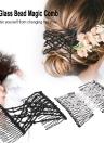 El peine mágico del grano de cristal 2Pcs pega los accesorios chispeantes del pelo del pelo del estiramiento de la cabeza del pelo El color al azar DIY Hair Styling Tool