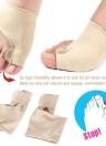 2Pcs Big Toe Separator Divider Hallux Valgus Protector Corrector Gel Bunion Orthopedic Adjuster Valgus Guard Feet Care Tool