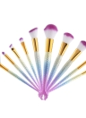 Set de cepillos cosméticos de maquillaje de sirena 10pcs