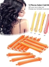 12 Pieces Salon Cold Wave Rods Hair Roller With Rubber Band Curling Curler Perms Hairdressing Styling Tool for Girls Women Hair DIY