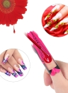 100Pcs Nail Form Sticker Nail Art Tip for Acrylic UV Gel Nail Extension Guide Self-Adhesive Form Manicure DIY Tool