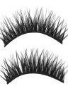 5 pares de pestañas postizas largas negras cruzadas naturales pestañas 3D Extention falsas pestañas maquillaje
