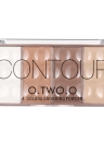 O.TWO.O Cuatro colores Contouring Corrector Kit de paleta de crema Base de la cara Base Maquillaje Primer conjunto de paleta de crema