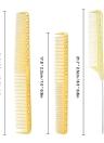 3Pcs Salon Hair Comb Hairdresser Cut Comb Kit Plastic Hair Cutting Comb Professional Barber Hairdressing Comb