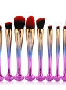 10 stücke Shell Kosmetik Make-Up Pinsel Set Foundation Power Kontur Lidschatten Brau Blending Schönheit Make-Up Tool Kits