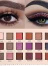 18 Sombra de olhos de cor natural Matte Shimmer Eye Shadow Palette Luminous Long-Lasting Pressed Glitter Sombra de olhos Impermeável Cosmético Exótico Alfândega
