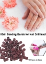 100 Pcs Nail Drill Sanding Bands Grinding Sand for Manicure Pedicure Nail Drill Machine Nail Art Tool 80# 120# 180# Optional Size