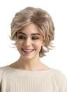 """14 """"peruca perucas de cabelo curto textura ondulada curta peruca macia peruca de cor de fibra sintética de cor marrom peruca de festa diária para mulheres YJJ121"""
