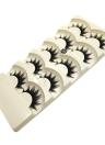 5 Pairs Falso Eyelash Longo Preto Grosso Falsas Fatias Maquiagem Natural Macio Maquiagem Do Olho Cruz Prateleira Falso À Mão