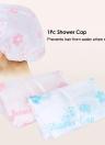 1Pc Shower Cap Hair Hat Net Plastic Shower Cap Waterproof Head Cover Hat Elastic Hat for Showering Eyelash Eyebrow Tattooing Random Color
