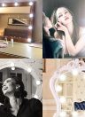 10Pcs Vanity Mirror LED Light Bulbs Kit USB Charging Port DIY Comestic Make up Lamp Dimmable 5 Levels Brightness Adjustable for Dressing Table Room Salon