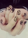 12PCS Gold Foil Nail Stickers 3D Glitter DIY Nails Decoration UV Gel Tool Decoration