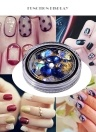 Nueva Royal Blue Nail Art Diamond Decoration Afilada en la parte inferior Transparente Single Crystal Glass Diamond Beads