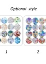 16 unids Nuevo Manual DIY Nail Art Stickers Shell Starry Sky Leopard Print Pegatina Decorativa