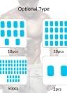 5 Packs 10 PCS Hydrogel Abdominal Gel stickers Fitness Equipmen Special Abdomen Machine Sticker