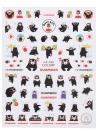 1 stücke Nagel Maniküre Aufkleber Mischmuster Französisch Nagel Hohl Grid Schablone Stamping Template Nail art Werkzeuge