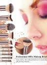 Professional 10Pcs Makeup Brush Set Powder Foundation Brush Eyebrow Eyeshadow Cosmetic Make Up Tools Toiletry Kit for Women Girl