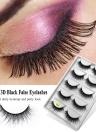5 Pairs Long False Eye Lashes 3D False Eyelashes Invisible Band Black Eyelash Full Strip Reusable
