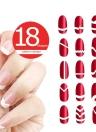 18Pack diseño de manicura francesa uñas punta arte guías formas marginales guías engomada de bricolaje plantilla