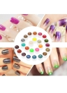Couleurs Anself 24pcs Mix Glitter Poudre Gel UV Nail Art Gel Polish Extension Professional Gel UV Set Gel Builder pour vernis à ongles Nail Art Décorations Outils