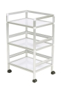 Storage Trolley 3 Layers Barber Beauty Drawers Hair Rolling Cart