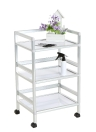 Trolley de stockage 3 couches Barber Beauty Drawers Hair Rolling Cart