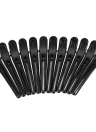 12Pcs Black Hair Grip Clips Hairdressing Sectioning Cutting Clamps Professional Plastic Salon Styling Hair Grip Clips