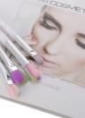 4pcs herramienta del maquillaje de cepillo del maquillaje del arco iris de cepillo cosmético del kit de sombra de ojos Delineador de ojos cepillo de pelo de nylon