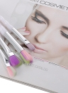 4pcs Maquillage Brush Set arc-en-brosse cosmétiques Kit Eyeshadow Eyeliner Brush Nylon cheveux outil