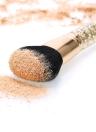 Maquiagem Abody escova de nylon em pó Escova Foundation Professional Cosmetic Blush Brush Maquiagem Facial Com cabo de plástico de Ouro