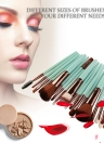18Pcs Cosmetic Tools Make-up Toiletry Kit Wool Primer Professional Brush Set