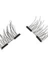 Europeos y americanos caliente estilo 3D pestañas falsas magnéticas sin necesidad de pegamento doble imán
