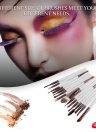15PCS Professional Eye Shadow Eyebrow Lip Makeup Brush Tools Wool Design Pinceau Maquillage Professionnel