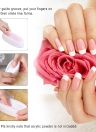 French Nail Dip Container Dipping Powder Tray French Nail Smile Line Molding Mould Finger Guide Nail Tool