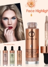 O.TWO.O Face Highlighter Foundation Shimmer Liquid Facial Contour Concealer Cream Face Make Up Tool