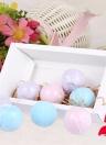 8 unids Orgánica Bombas de Baño Fizzer Sales Bola de Aceite Esencial Hecho A Mano SPA Stress Relief Exfoliating Ocean Lavender Rose Sabor