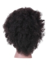 Afro Mannequin Head Hairdressing Training Head for Practice Styling Braiding African American Dummy Head with 100% Human Hair Black
