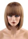 """11 """"pelo peluca mujer pelo corto chica postizo extensión del pelo Cosplay pelo herramienta de peluquería marrón oscuro"""