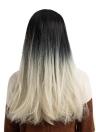 """26 """"pelucas de cabello largo peluca de color degradado peluca de pelo largo recto fibra sintética Cosplay peluca de fiesta diaria para mujeres YJJ143-2"""